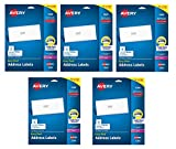 Avery Easy Peel Address Labels for Laser Printers , 1'' x 2-5/8'', 750 Labels per Pack, Case Pack of 5, 3750 Labels Total (5260)