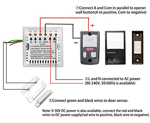 Wireless Garage Door Opener Remote Wifi Switch Universal