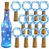 Homeleo Wine Bottle Cork Light String Starry Fairy Light for Jar Decoration(12, Blue)