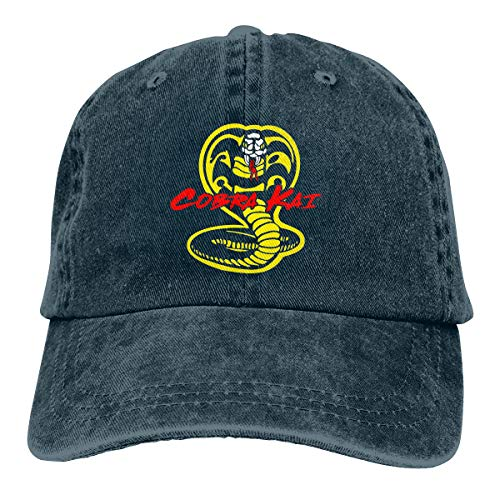 - COOLSHOPME Cobra Kai Baseball Cap Dad Hat 100% Cotton Soft Adjustable Navy