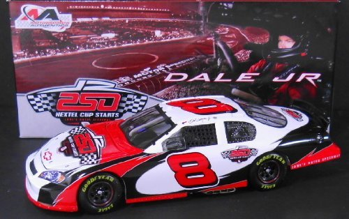 Dale Earnhardt Jr #8 Monte Carlo 250th Consecutive NEXTEL Cup Starts Lowes Motorspeedway Oct 14 2006 Commemorative Car 1/24 Scale Only 7812 Produced Hood, Trunk Opens Action Racing Collectibles ARC ()