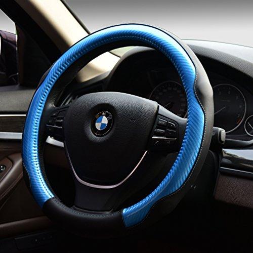 [해외]자동차 스티어링 휠 커버 스포츠 다채로운 자동차 인테리어 액세서리 - PU 가죽 안티 슬립 랩 유니버설 적합 15 인치/Car Steering Wheel Cover Sports Colorful Automotive In