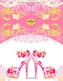 Writedrawdesign Notebook, Blank/College Ruled, 8. 5 X 11 , Pink Stiletto Heels, Writedrawdesign, 1496009495
