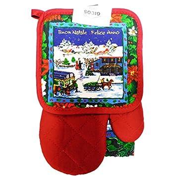 De árbol en Navidad Adornos de para horno con para Horno para, de guante y trapo de cocina: Amazon.es: Hogar