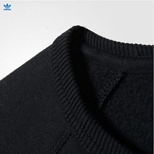 (アディダス) メンズ オリジナル トレフォイル クルー スウェット シャツ(ブラックM) [並行輸入品]
