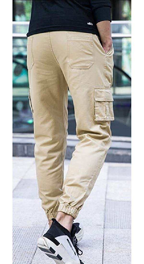 Mens Camo Cargo Pants Slim Fit Casual Jogger Pant Chino Trouser
