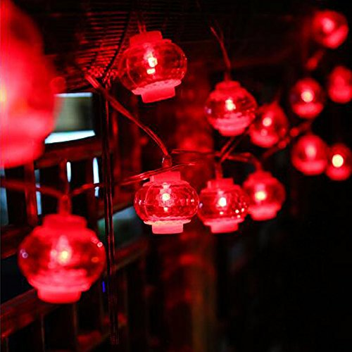 Chinese Light (Dreamworth Lanterns String Lights,26.2ft/8M 40 LED Red Lanterns String Lights Battery Operated Fairy String Lights For Wedding, Chinese New Year,Spring Festival,Party Decoration,Christmas)