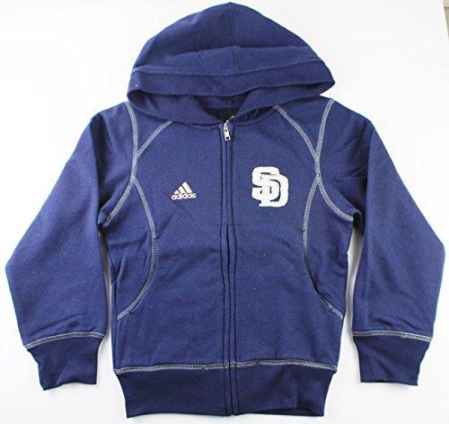 - San Diego Padres MLB Girls Size 7-16 Full Zip Fleece Hoodie (Girls Large 14)