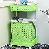 Zhihui Bathroom Shelves ZZHF yushizhiwujia Storage Racks Multi-Story Storage Shelf Floor-Standing Washing Machine Toilet Shower Shelf (Color : Fruit Green)