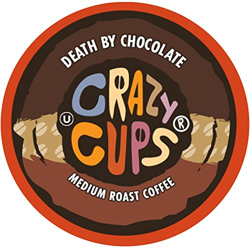 Crazy Cups Flavored Coffee, for the Keurig K Cups 2.0 Brewers, Death by Chocolate, 22 Count