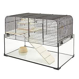 Pet Ting Godfree - Jaula para hámster (Cristal), diseño de ratón ...