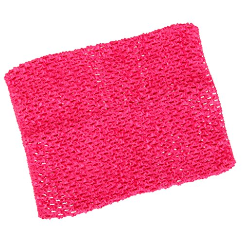 Fityle 2320cm Crochet Tutu Dress Tube Top DIY Princess Dress Toddler Child Adult Size Girl Clothes Accessories - Rose Red, as described ()
