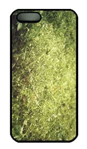 iPhone 5S Case - Customized Unique Design Moss And Grass New Fashion PC Black Hard