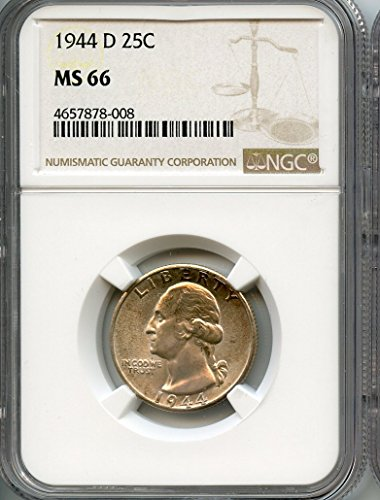 1944 D Washington Quarter MS-66 NGC