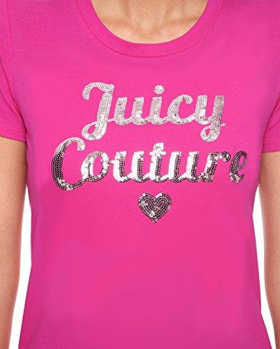 Juicy Couture LOGO JUICY SEQUINS SHORT SLEEVE TEE - Sweet Raspberry (Medium)