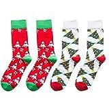 Clearance! Socks Women Low Cut,2pcs Christmas Cotton Socks Multi-Color 's Winter Socks,