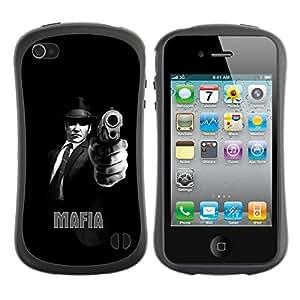 Suave TPU GEL Carcasa Funda Silicona Blando Estuche Caso de protección (para) Apple Iphone 4 / 4S / CECELL Phone case / / MAFIA /