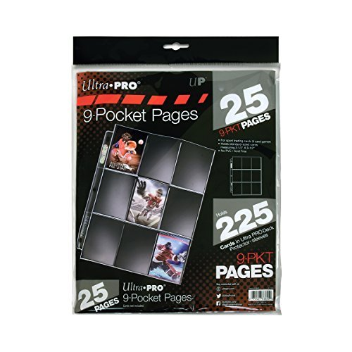 Ultra Pro Silver Series 9-Pocket Pages (25 Count (9 Pocket Trading Card)