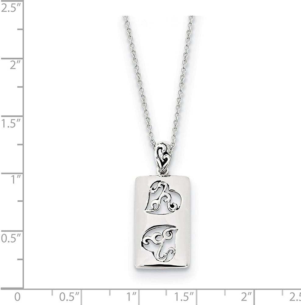 925 Sterling Silver Vintage Antiqued Girlfriends Two 18in Pendant Necklace Charm Chain 18