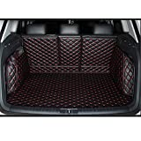 Custom Fit Carpet Liners Full Covered Trunk Mats for AUDI Q5 Color Black with Red