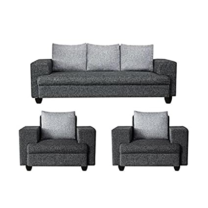 Sofas Jute Fabric Five Seater Sofa Set 3 1 1 Dark Grey Light Grey Imperial Amazon In Home Kitchen