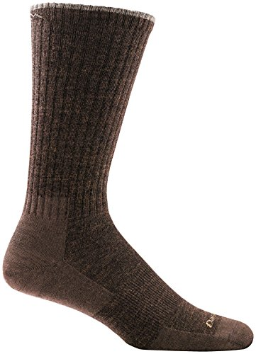 (Darn Tough Standard Issue Mid Calf Light Cushion Sock - Men's Brown Large)