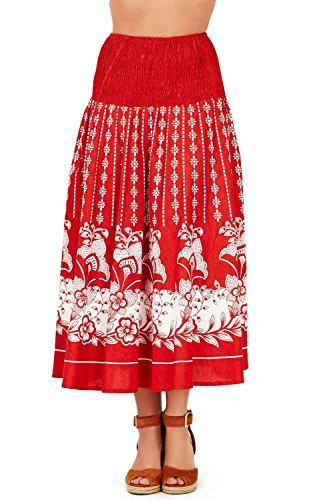 Vestido Veraniego de Dama 2 en 1 de algodón Pistachio Rosso