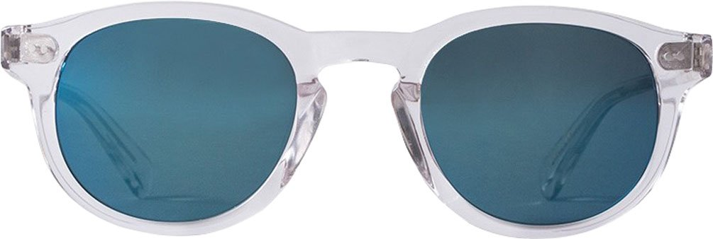 Stussy Romeo Sunglasses Translucent Clear / Blue Mirror Glass Lens