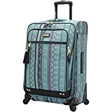 Steve Madden Luggage Large 28'' Expandable Softside Suitcase With Spinner Wheels (Legends Turquoise)