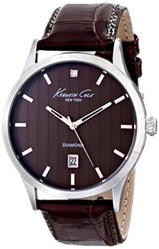Kenneth Cole New York Men's KC8070 Rock Out Analog Display Analog Quartz Brown Watch