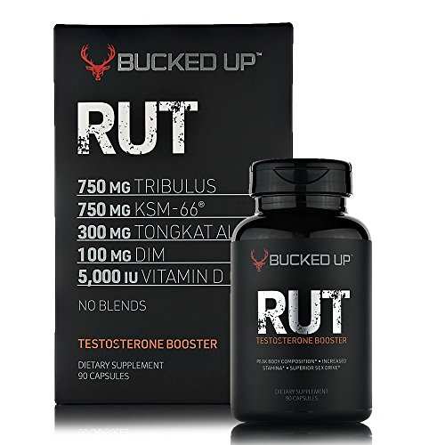 RUT – Testosterone Booster (90 Capsules) Natural Endurance, Strength and Stamina Booster – Peak Body Composition – Builds Muscle Fast Review