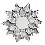 Cape Craftsmen Galvanized Metal Flower Wall Mirror