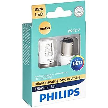 Philips 1157 Ultinon LED Bulb (Amber), 2 Pack
