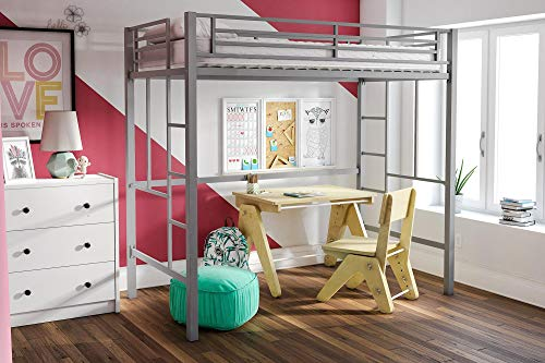 Amazon Com Your Zone Metal Loft Twin Bed Multiple Colors