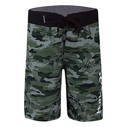 Hurley Boys' Little Board Shorts, Green Camo, 7