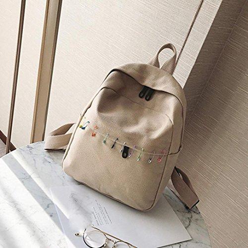 Casual Teenagers Black Rucksack Handbag Hunzed Women Handbag Women Bags Girls Travel Bag Shoulder Backpacks School Khaki Canvas Crossbody 8zxBq