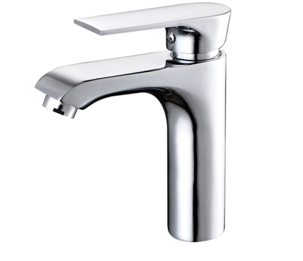 Edelstahl Einhand Mischer Wasserhähne Küche Alle Kupfer-Haupt-Einloch-Waschtischarmatur Mit Kaltem Und Heißem Wasserhahn