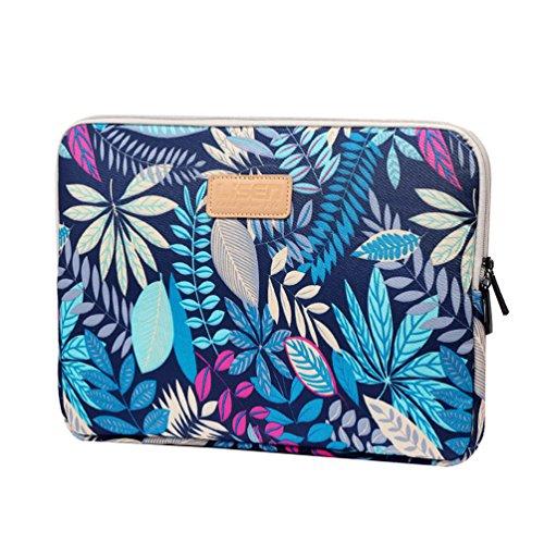 """Vbiger Leinwand Laptop Tasche Laptop Handtasche Business Tasche mit Wasserdichte Kratzfeste 14.1""""Zoll Blau REcSFS"""