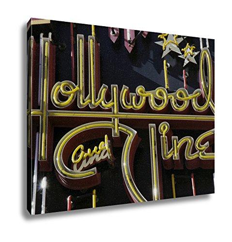 Ashley Canvas, Hollywood Vine Sign, - California Blvd Hollywood Map