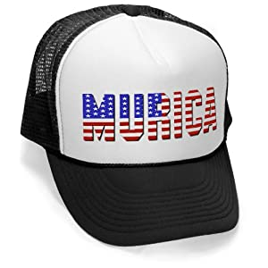 Murica Fourth of July USA - Retro Vintage Style Trucker Hat Cap