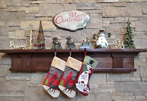 Lulu Decor, Cast Iron Santa Claus & 3 Reindeer Stocking Holders, Solid, Beautiful, Available in Holiday Colors, Measures 7.75''x5.5'', Set of 4, Perfect for holiday gifts/Christmas gifts(4 Hooks) by LuLu (Image #1)