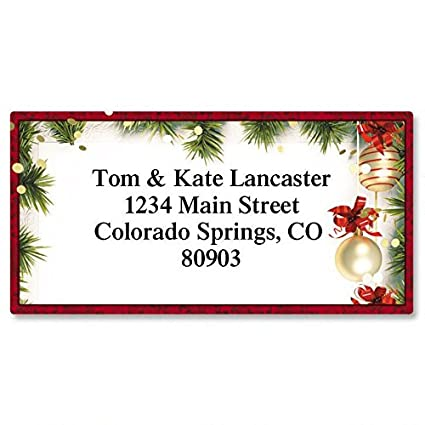 amazon com christmas twilight personalized return address labels