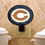 Chicago Bears Art Glass Night Light