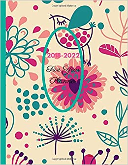 2018 - 2022 Calibi Five Year Planner: Agenda Planner for the ...
