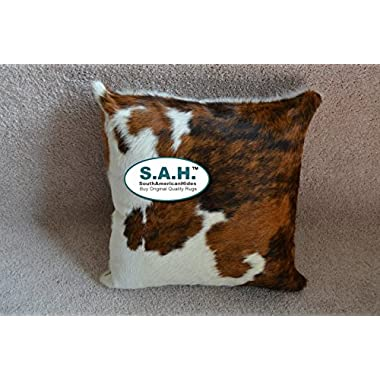 TriColor Cowhide Pillow Cow Hide Skin