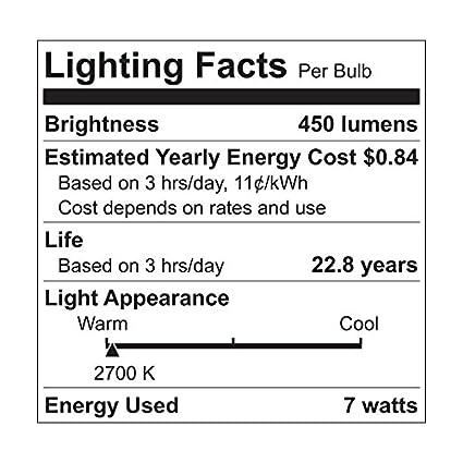 800-Lumen A19 Bulb with Medium Base GE Lighting 63180 Reveal LED 11-Watt 60-watt Replacement 1-Pack