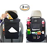 Sellurite Car Trash Can + Car Seat Organizer | Car Garbage Can with Lid and Car BackSeat Organizer with Tissue Holder and Cup holder