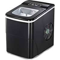 AGLUCKY Ice Maker Machine Countertop, Compact & Portable Ice Makers, Make 26 Lbs Ice in 24 hrs,Ice Cube Rready in 6-8…