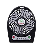 Portable Fan, Asstar mini USB Desktop Desk Table rechargeable fan with 2200mAh Power Bank and Flashlight, for Traveling,Fishing,Camping,Hiking,Backpacking,BBQ,Baby Stroller,Picnic,Biking (Black)