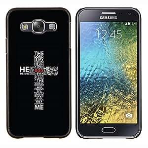 """Be-Star Único Patrón Plástico Duro Fundas Cover Cubre Hard Case Cover Para Samsung Galaxy E5 / SM-E500 ( Cruz - El Señor es mi Sheppard"""" )"""